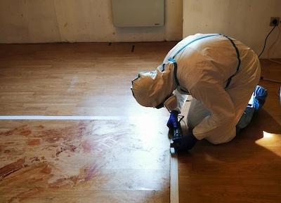 Nettoyage après décès - Préparation du nettoyage du sol