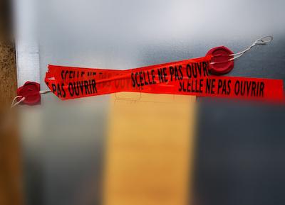 Scellés scène de crime